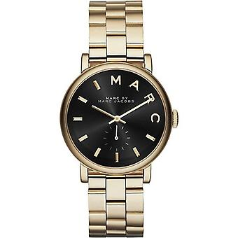 Marc Jacobs MBM3355 Baker Gold Tone Black Stainless Ladies Watch