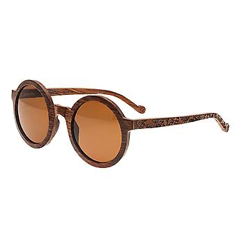 Earth Wood Canary Polarized Sunglasses- Red Rosewood/Brown