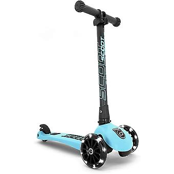 scoot and ride highwaykick 3 led folding scooter blueberry ages 3-6 years