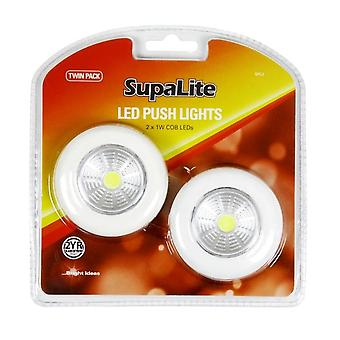 SupaLite LED Push Light (Pack Of 2)