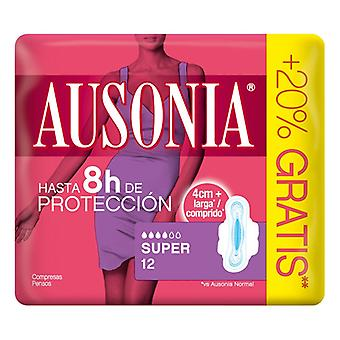 Super Sanitary Pads with Wings Ausonia (12 uds)