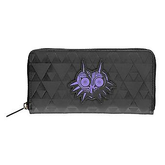 Zelda Purse Majoras Mask Logo new Official Nintendo Black Zip Around