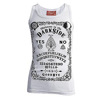 Darkside - ouija board -  ribbed beater vest - white