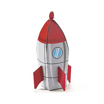 6 Outer Space Rocket Party Favour Boxes for Kids Parties