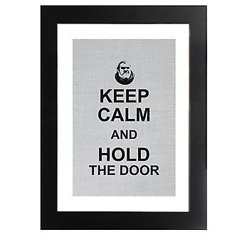 Hodor Keep Calm And Hold The Door Game Of Thrones Framed Print