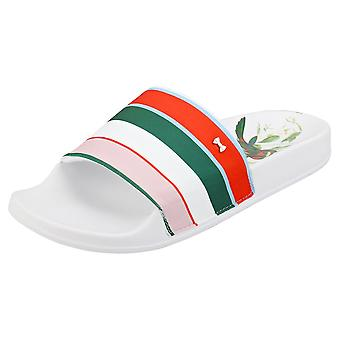 Ted Baker Abelini Womens Slide Sandals in White Multicolour