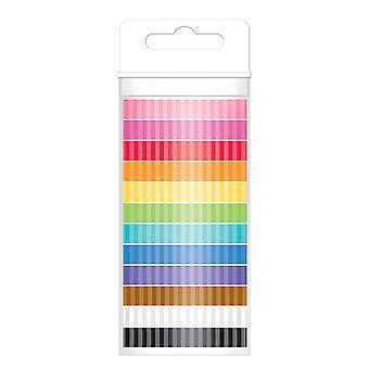 Doodlebug Monochromatic Washi Teippi 8mmx12yds 12/Pkg - Raita