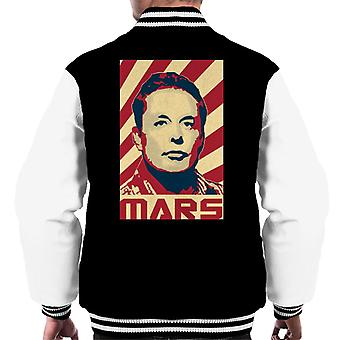 Elon Musk Mars Kommunistischen Retro Propaganda Men's Varsity Jacke