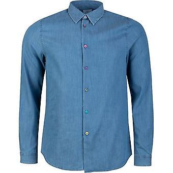 Paul Smith kontrast knapper Chambray skjorte
