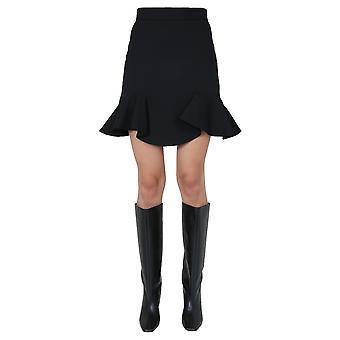Alexander Mcqueen 631506qjaaa1000 Women's Black Wool Skirt
