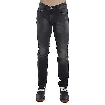 Gray cotton stretch super slim fit jeans