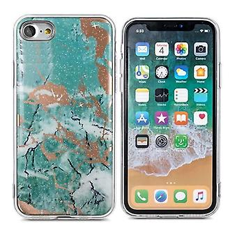 iPhone 6 Plus / 6s Plus - Trendikäs Marmur Shell - Vihreä