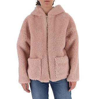L'autre Koos B1580465070u325 Women's Pink Viscose Outerwear Jacket