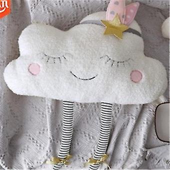 Pudcoco Kreative Wolke geformt Plüsch gefüllt Kissen Bett Kissen Spielzeug - Home Sofa