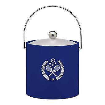 Kasualware 3 Qt Ice Bucket Blue Tennis