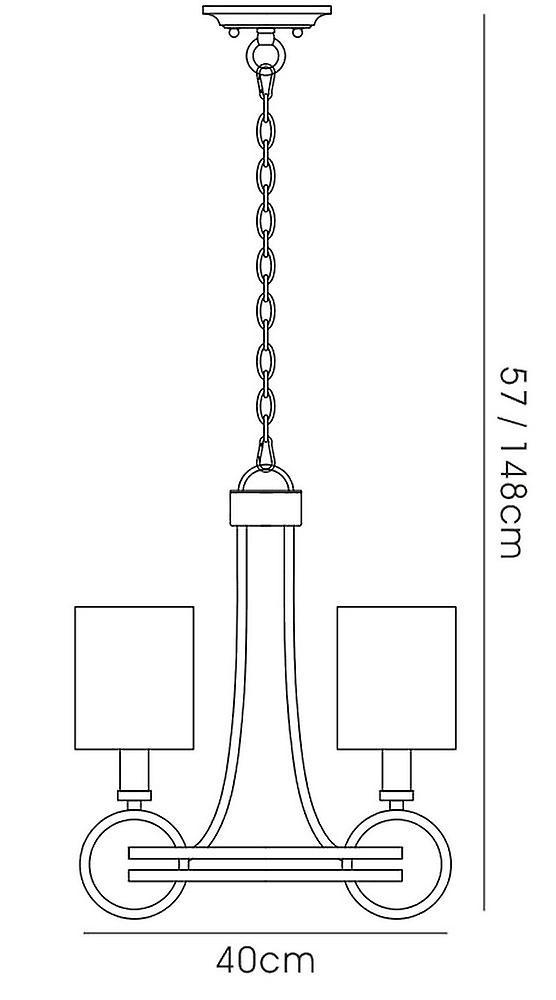 Ceiling Pendant with Beige Shade 3 Light E14 Antique Silver, Teak Plated