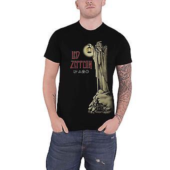 Led Zeppelin T Shirt Hermit Band Logo new Official Mens Black