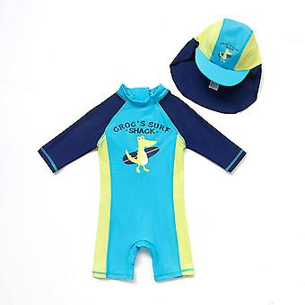 Bonverano Baby Boys One Piece UPF 50+ Sun Protection S/S Sleeves Zip Swimsuit