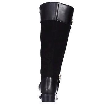 Karen Scott Womens DELIEE Tecido fechado toe joelho botas de equitação