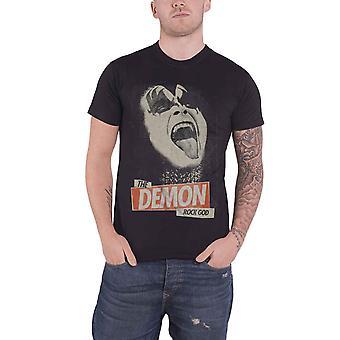 BEIJO camiseta o demônio rocha Deus Gene Simmons novo oficial Mens preto