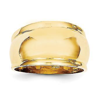 14k Ouro Amarelo Sólido Anel de Cúpula Polido Tamanho 7 Joias para Mulheres - 3,2 Gramas
