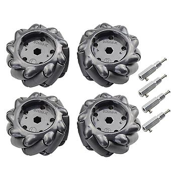 5/10/15kg Load 60/80/96mm Mecanum Wheel With 4/6mm Tt Hubs For Arduino