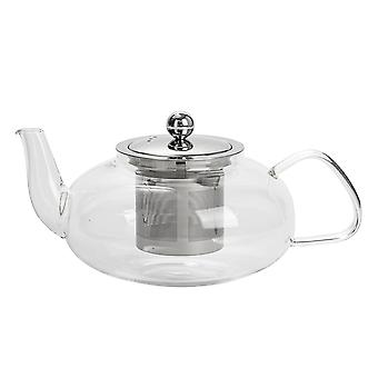 Argon Tableware Clear Glass Teapot z zaparzaczem do herbaty loose leaf - 800ml - Owal