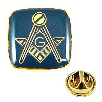 Ties Planet Gold Plated & Blue Masonic Met G Lapel Pin Badge