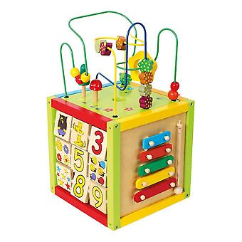 Legler Small Foot Children's Wooden Activity Cube Toy Unisex Multi-color (4620)