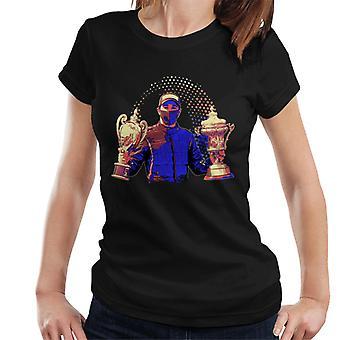 Motorsport Images Lewis Hamilton Holding Trophies Women's T-Shirt