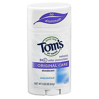 Tom's Of Maine Toms Of Maine Natural Deodorant Stick, Unscented 2.25 Oz