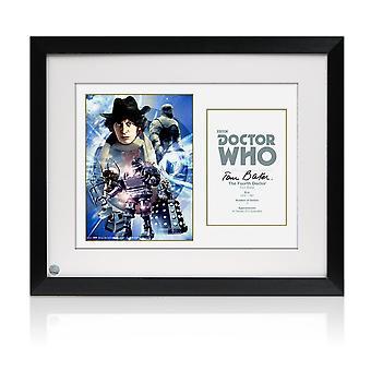 Tom Baker Dr Who Signed Cartel. Enmarcado
