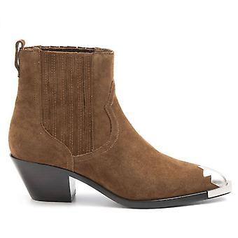 Texan Ash Floyd Brown kotníková bota s kovovou špičkou