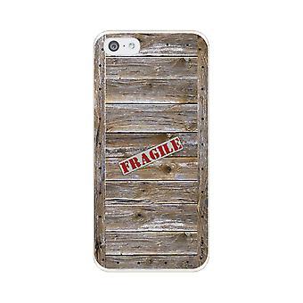 Runko iPhone 5c pehmeä vaikutus puinen caisse