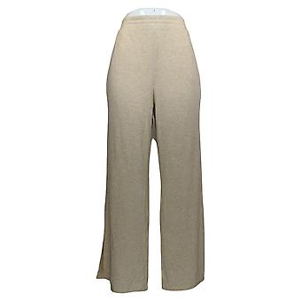 Soft & Cozy Women's Pants Hacci Knit Pull On W/ Pockets Beige 627-829