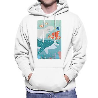 Pixar Finding Nemo Character Ocean Swim Men's Hooded Sweatshirt
