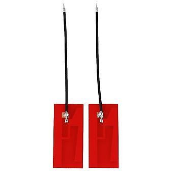 2pcs Red Internal Antenna High Gain Welded 32x14mm Wire Length 6cm
