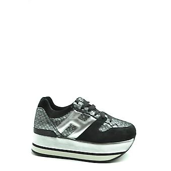 Hogan Ezbc030218 Women's Black Leather Sneakers