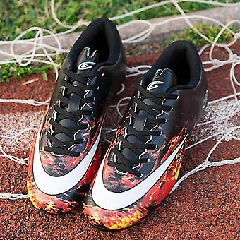 Outdoor Men Soccer Shoes, Football Boots High Ankle Cleats Training Sneakers
