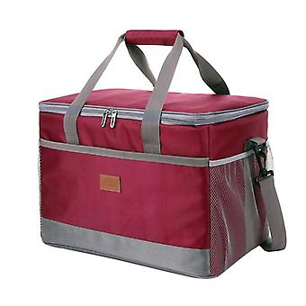 Leakproof Red Blue 33l Insulated Thermal Cooler Lunch Bag For Outdoor Picnic