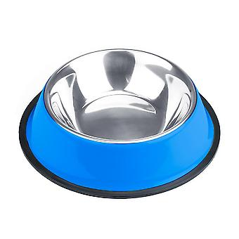 16oz. Tazón de perro de acero inoxidable azul