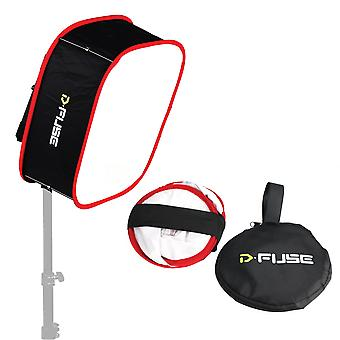 """D-fuse opvouwbare draagbare softbox voor 1x1 studio led paneel m 9.25"""" x 9.25"""""""