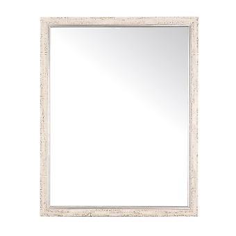 Silver And Cream Aspen Wall Mirror 30'' X 36''