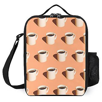 Coffee Cup Pattern Printed Lunch Bags