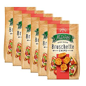 6 x 70g Bruschette Pizza Bread Chips Oregano Oven Baked Snack Crackers Nibble