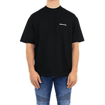 Balenciaga Medium Fit BB T-skjorte Svart 612966TJV871070 Topp