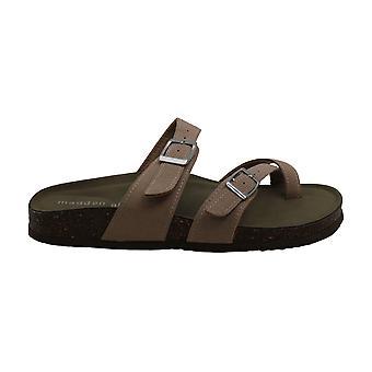 Madden Girl Womens Bryceee Split Toe Casual Slide Sandals