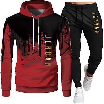 Men Fashion Tracksuit Casual Sportsuit Sportswear Hooded Sweatshirt+pant