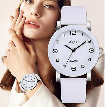 Quartz Watches Luxury White Bracelet Ladies Dress Creative Clock