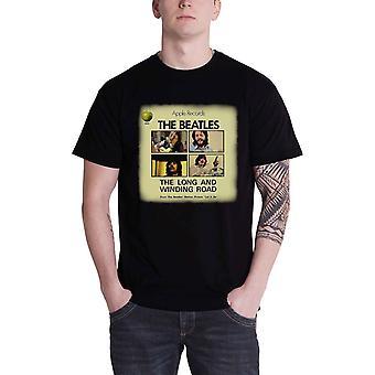 Beatles pitkä & käämitys Road virallinen miesten uusi musta T-paita